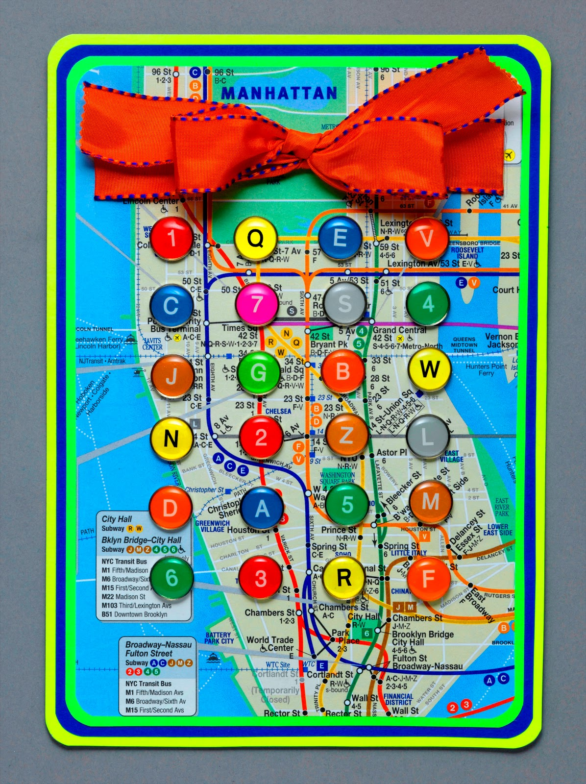 New York City Subway Map 1979.David Cobb Craig My New York City Subway Button Card