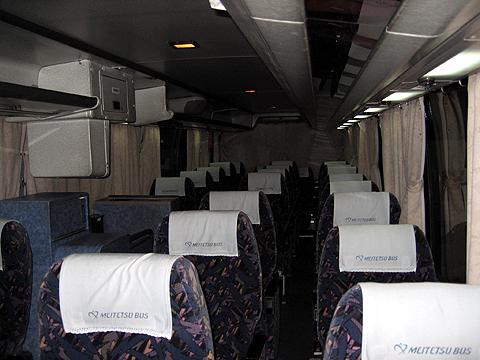 名鉄バス「どんたく号」 2607 車内