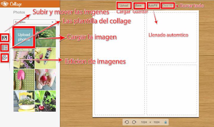cargar y  mover las imágenes