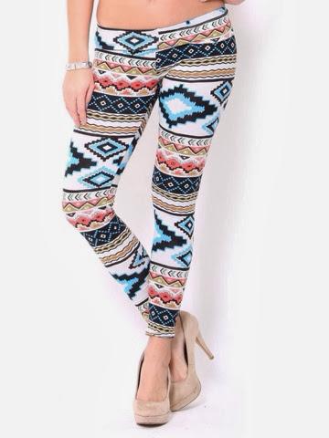 Adorable colourful Aztec leggings