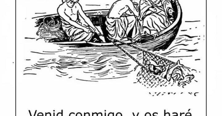 Dibujos Para Colorear Un Pescador: Dibujos Católicos : Jesús Y Pescadores Para Colorear