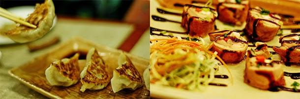 Japanese food - Gyoza and Sumo Sam