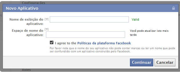 Novo aplicativo do Facebook