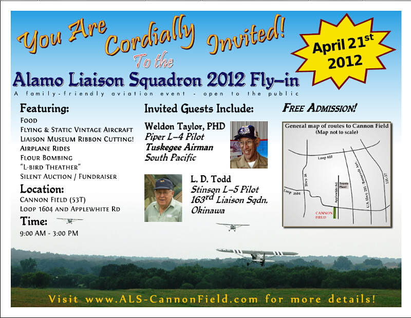 Cannon Field, April 21, 2012 - Alamo Liaison Squadron Fly-in ALS2012Flyer