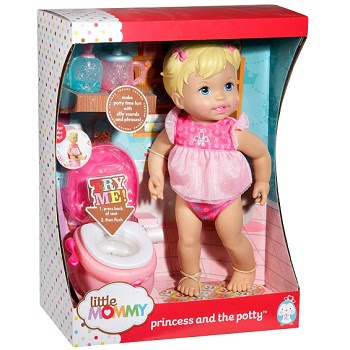 Little Mommy Princess and The Potty Doll for Girls by Mattel
