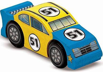 Bộ tô màu và thiết kế xe đua số 51 bằng gỗ ME4575 giúp bé rèn luyện đôi tay khéo léo