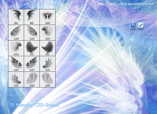 fantasy wings photoshop brushes fractal