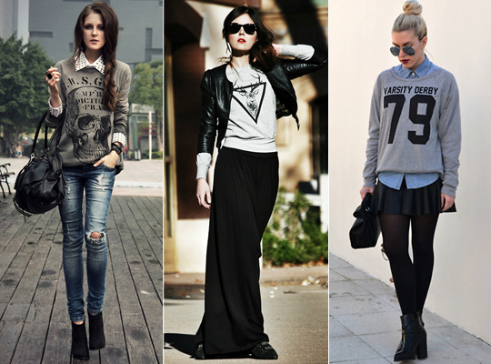 Looks com moletom!