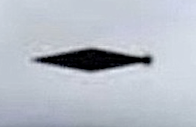 UK Government Elongated Diamond UFO Picture