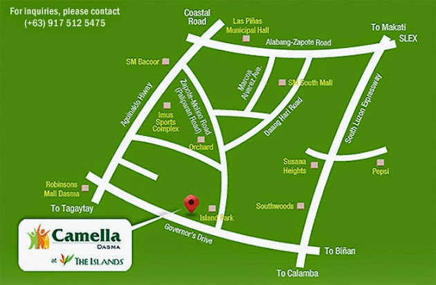 Vicinity Map Location Carina - Camella Dasmarinas Island Park | Crown Asia Prime House for Sale Dasmarinas Cavite
