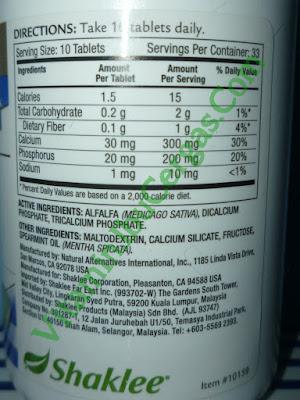 set kurus vitamin semulajadi