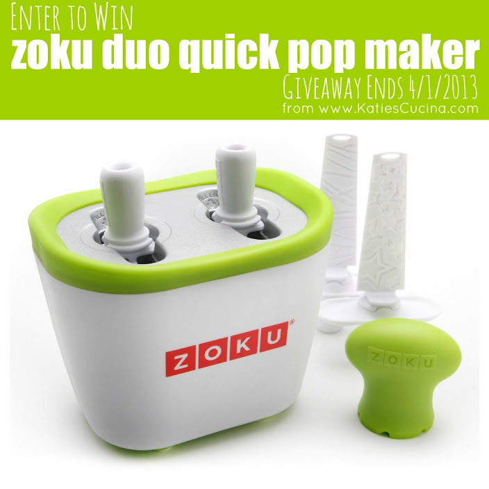 Enter to win a Zoku Duo Quick Pop Maker from KatiesCucina.com #Giveaway