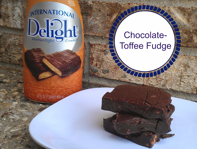 Chocolate-Toffee Fudge Recipe with International Delight Heath Creamer #whatsyourid