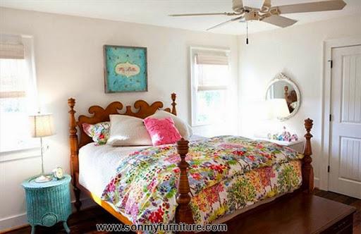 Rộn ràng hoa lá trong phòng ngủ mùa xuân hè_nội thất phòng ngủ-7