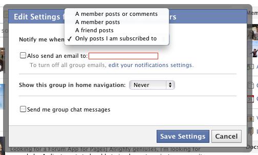σταματήστε τις ειδοποιήσεις από τις ομάδες του facebook