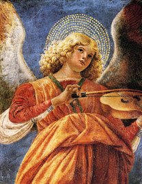 melezzo da forli, music, making, angel, 1480, colourful, sweet