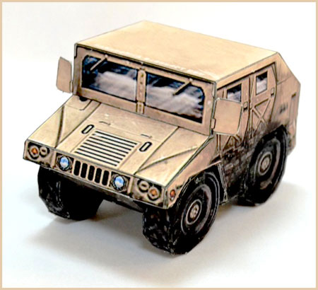 SD Humvee Paper Toy