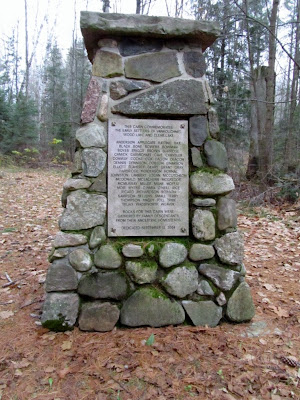 Memorial Cairn at the Vankoughnet Village parkPhoto by Chris Varga