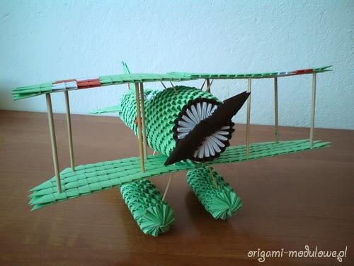 Samolot origami modułowe