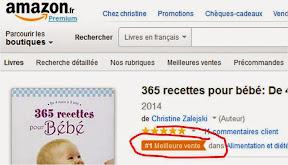365 recettes pour bébé livre numéro 1 des ventes Amazon