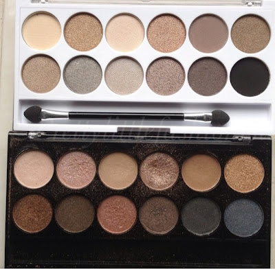 MUA Undress Me Too Palette  comparison with the Undressed palette