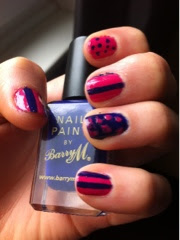 Barry M Indigo spot/stripe nail polish varnish
