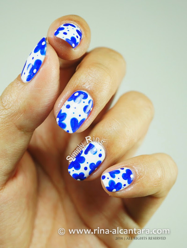 Looks Like Porcelain Nail Art Tutorial by Simply Rins