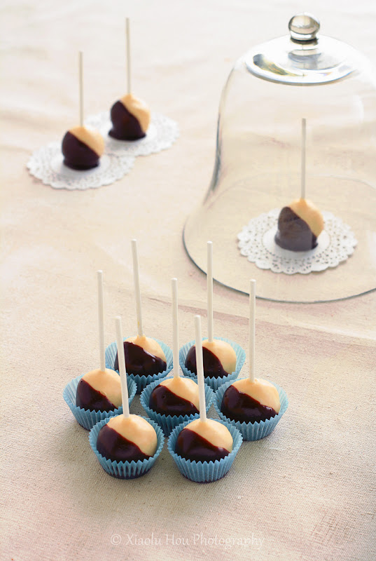 Boston Cream Pie Cake Pops...
