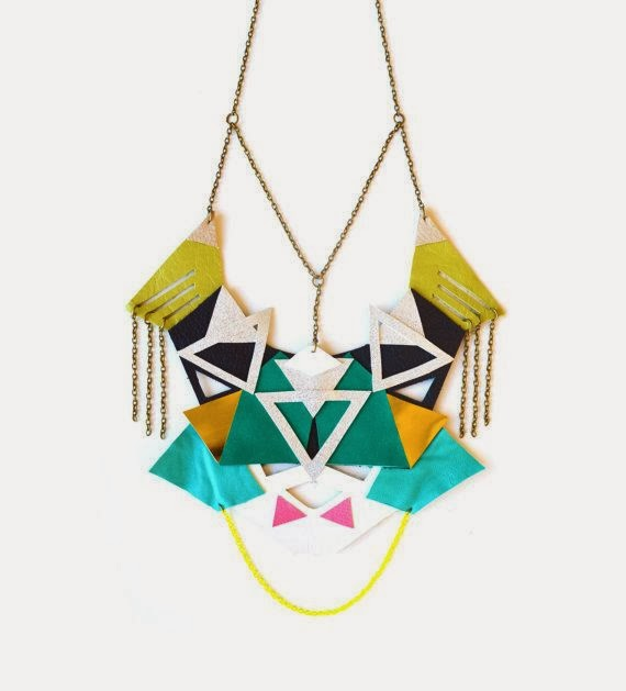 Leather Statement Necklace by Boo and Boo Factory