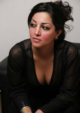 Persian Model Sara Lime black dress