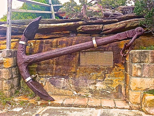 The anchor of the Dunbar. From Walking Sydney: North Bondi to South Head