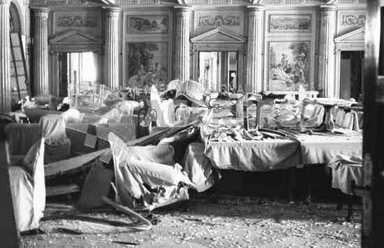 Palatul Regal (interior) după bombardamentul german