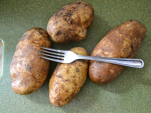 prick potatoes