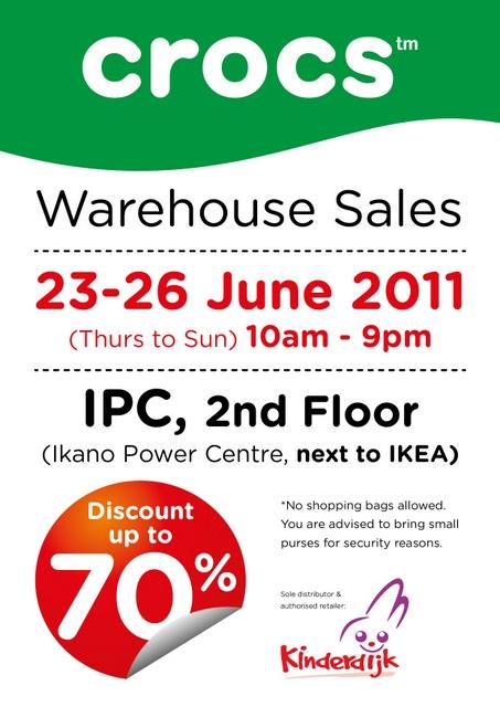crocs warehouse sales ipc 23 26 june. Black Bedroom Furniture Sets. Home Design Ideas