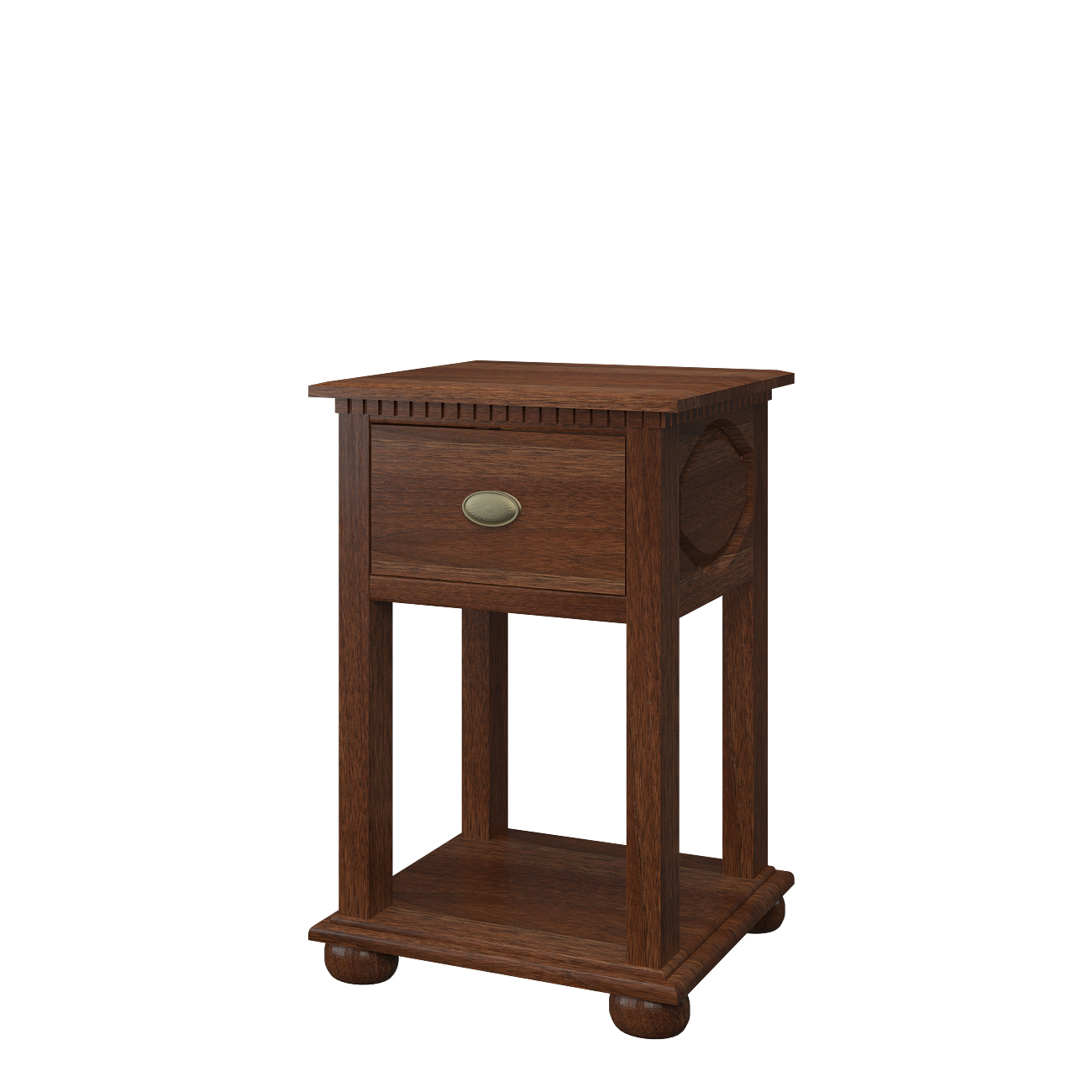 Nightstand With Shelves Parsons Nightstand With Shelves