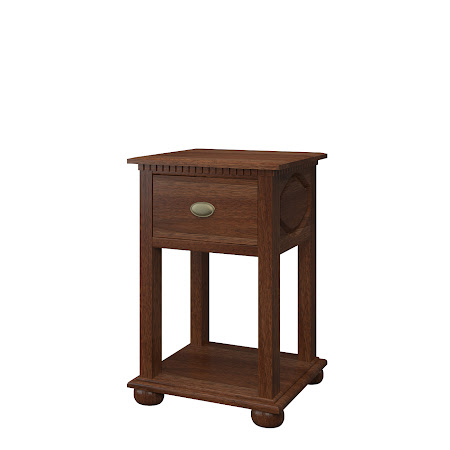 Valencia Nightstand with Shelf, Alamo Walnut