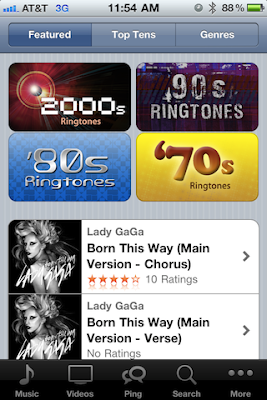 purchase ringtones from iPhone iOS 4.3