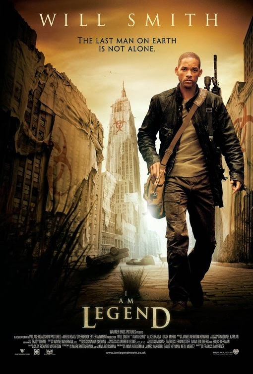 Poster Of I Am Legend (2007) Full Movie Hindi Dubbed Free Download Watch Online At Alldownloads4u.Com