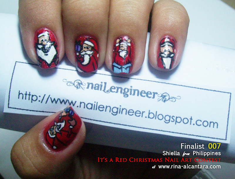 It's a Red Christmas Nail Art Contest Entry