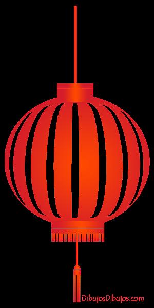 Dibujo de farolillo chino