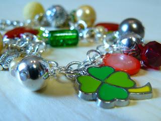 biżuteria z półfabrykatów - kolorowa bransoletka
