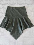 FALDA DE PICOS VERDE. Bonita falda