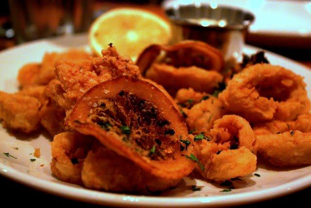 Calamari at Kefi restaurant in New York City