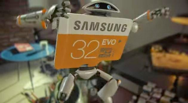 Samsung Memory Card Cute Robot SD Card Commercial