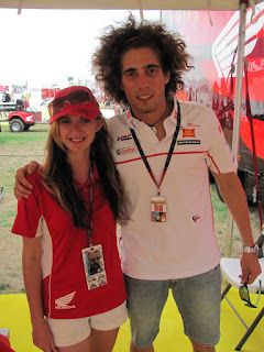 Stacey and Marco Simoncelli. Not wanting to be left out by the Mosport fans......