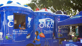 The Dannon truck is adorable at Bite of Oregon 2014