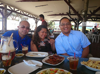 Lotlot Madura, Carlo Olano enjoying a meal at AA Barbecue
