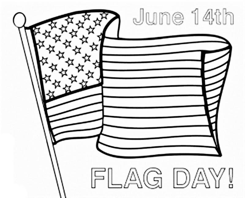 Día de la bandera de Estados Unidos para colorear 14 de Junio para colorear