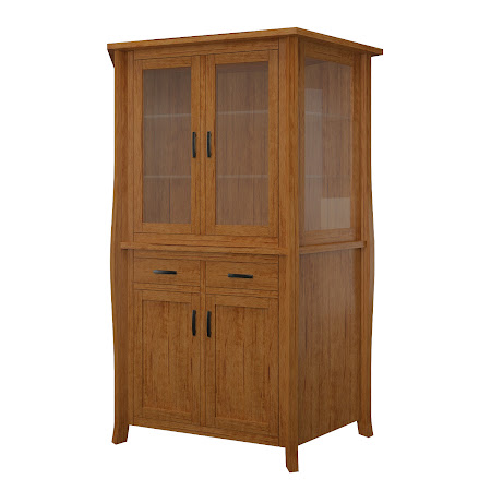 Cascade Corner Cabinet in Como Maple