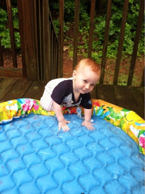 baby water play, Montessori homeschool
